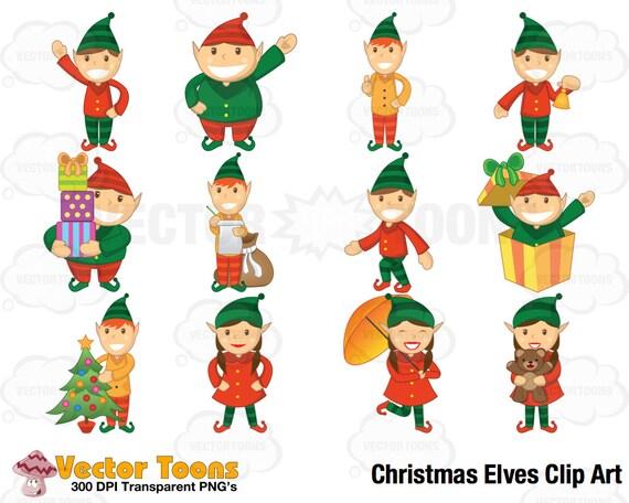 Weihnachten Elfen ClipArt digitale Animationen digitale | Etsy