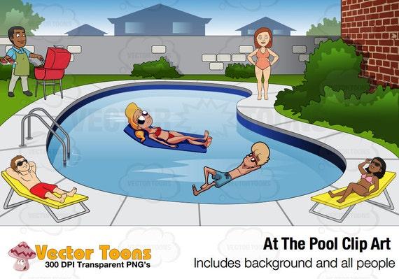 La piscine clip art clipart digital digital graphics - Clipart piscine ...