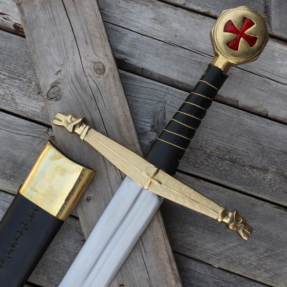 Templar Knight Battle Ready With Sword