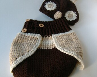 Crochet Owl Cocoon Woodsy Dark Brown Made To Order Owl Cocoon Baby Owl Cocoon Set Baby Crochet & Handmade infant owl costume | Etsy