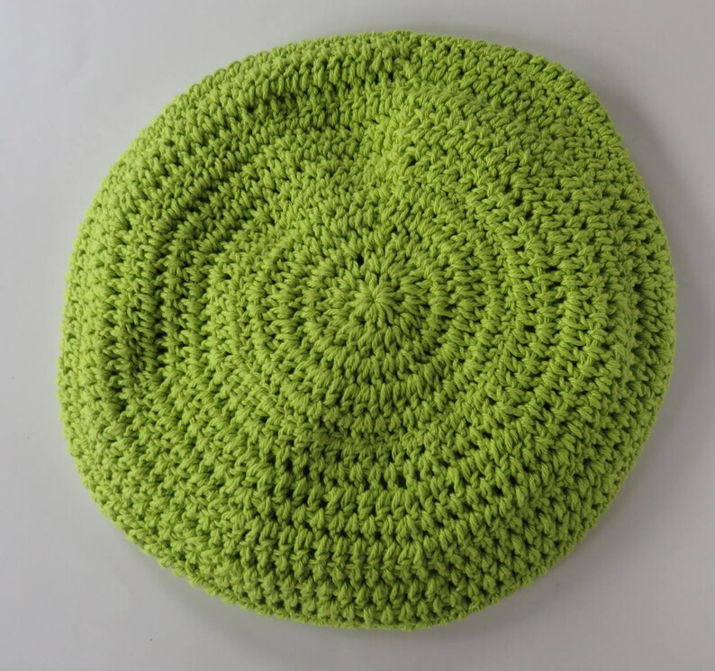 Crocheted Bright Green Hobo Bag With Flower Long Strap Handmade Hobo Bag Cotton Tote Crochet Purse Hobo Style Bag Hobo Bag Tote