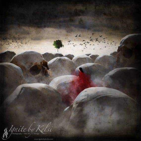 In the Land of Giants- photography, art print, dark art, giants, fantasy