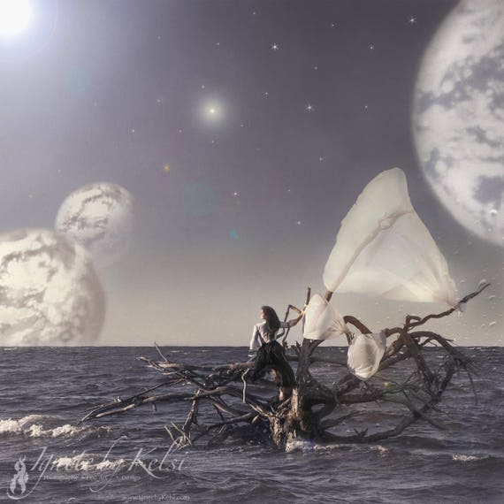 Evelyn's Journey, photography, art print, sailing, planets
