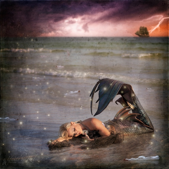 Things We Find, Fine Art Photo, Mermaid, Ship, Fantasy