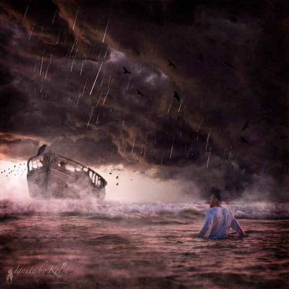 Choose, Fine Art Photo, Man, Ocean, Fantasy, Shipwreck