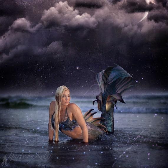 The Deep Dark, Fine Art Photo, Mermaid, Ocean, Fantasy