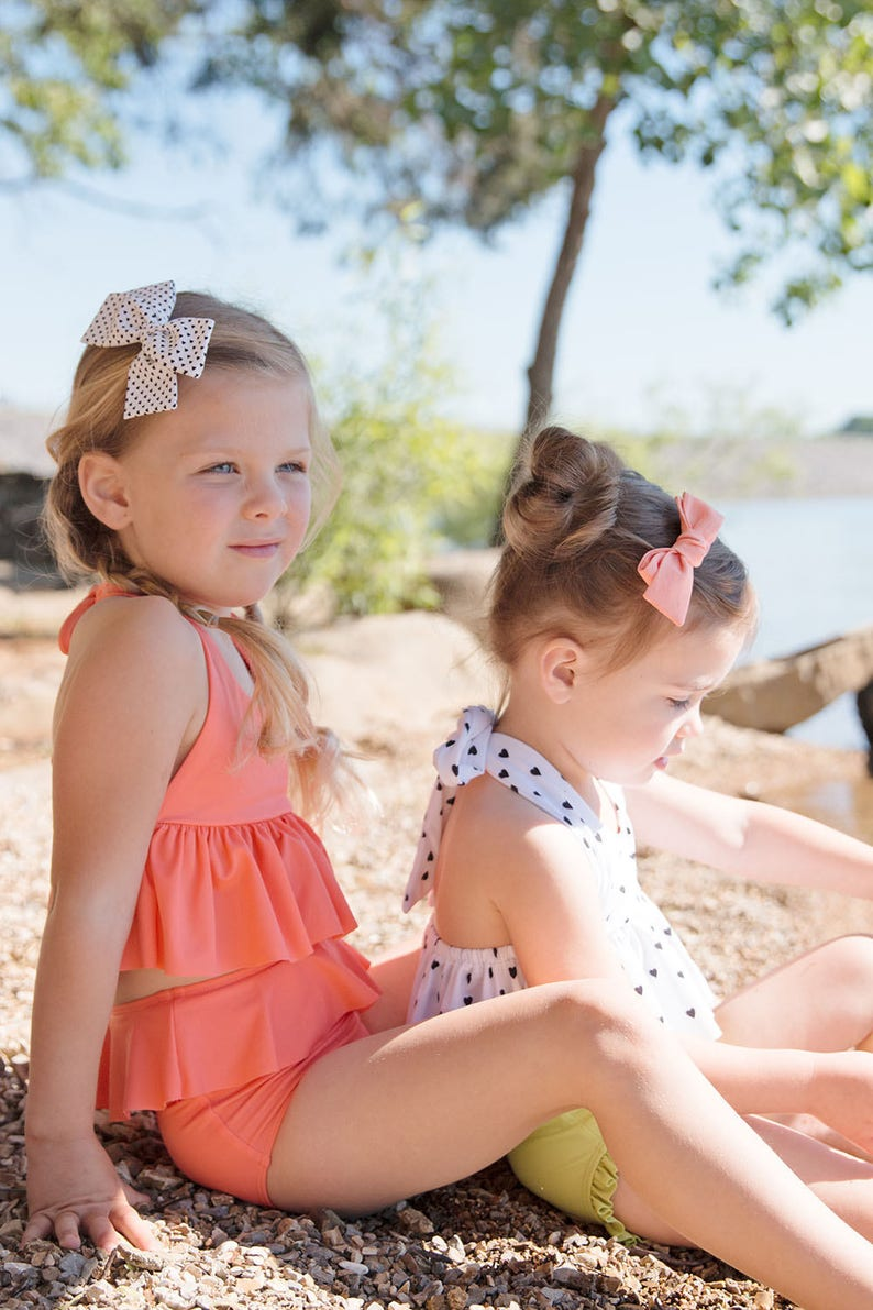 Fabric Belle girl bow nylon headband or alligator clip baby girl toddler big girl Sweetheart Stripe