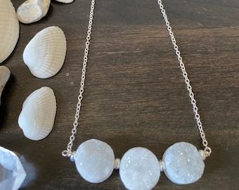 Benthesikyme's Sea Foam Druzy Necklace