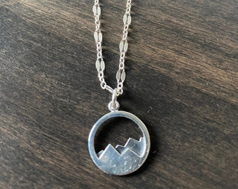 Misty Mountain Silver Necklace