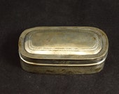 Sterling Patterned Ornate Rounded Snuff Box Fine Silver
