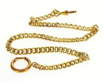 """Curb Link Fancy Chain Watch Fob  11.75"""""""