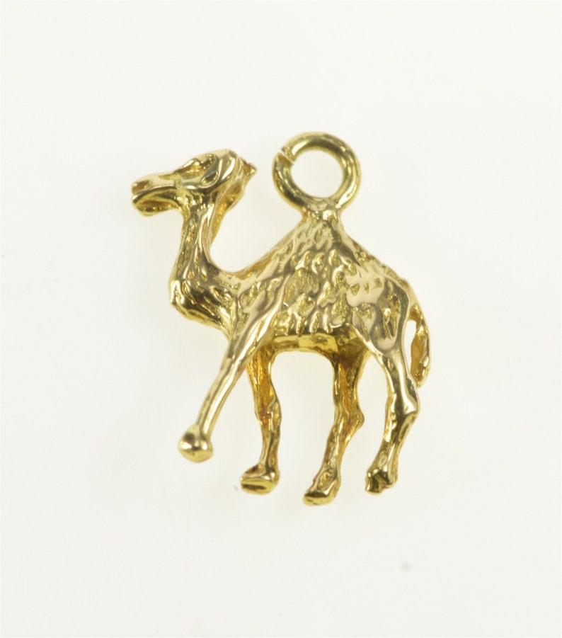 14K 3D Camel Desert Animal CharmPendant Yellow Gold