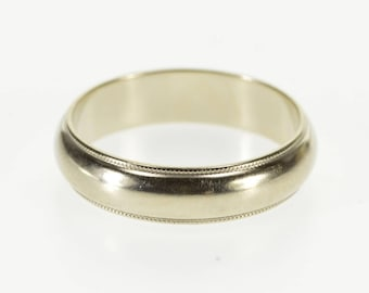 14k Dot Trim Rounded Classic Wedding Band Ring Gold
