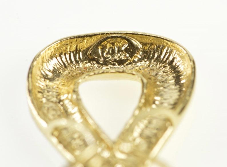 14K Two Tone X Criss Cross Loop Fashion Pendant Yellow Gold