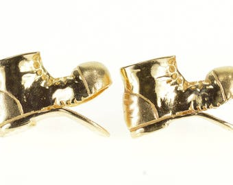 14k 3D Hobo Soleless Boots Shoes Tie Tack Lapel Pin Gold