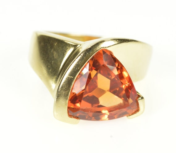 14K Trillion Syn. Mexican Fire Opal Cocktail Ring