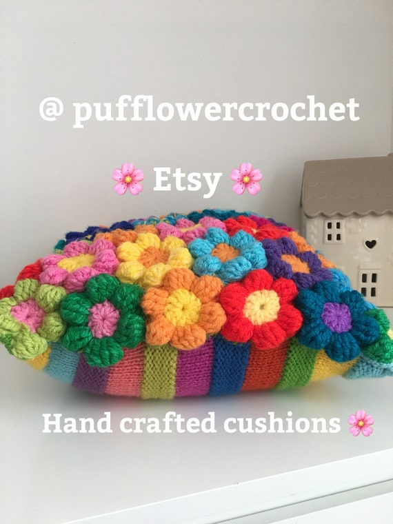 Etsy Cuscini.Crochet Cushion Couch Pillow Cuscini Kussen Wool Etsy