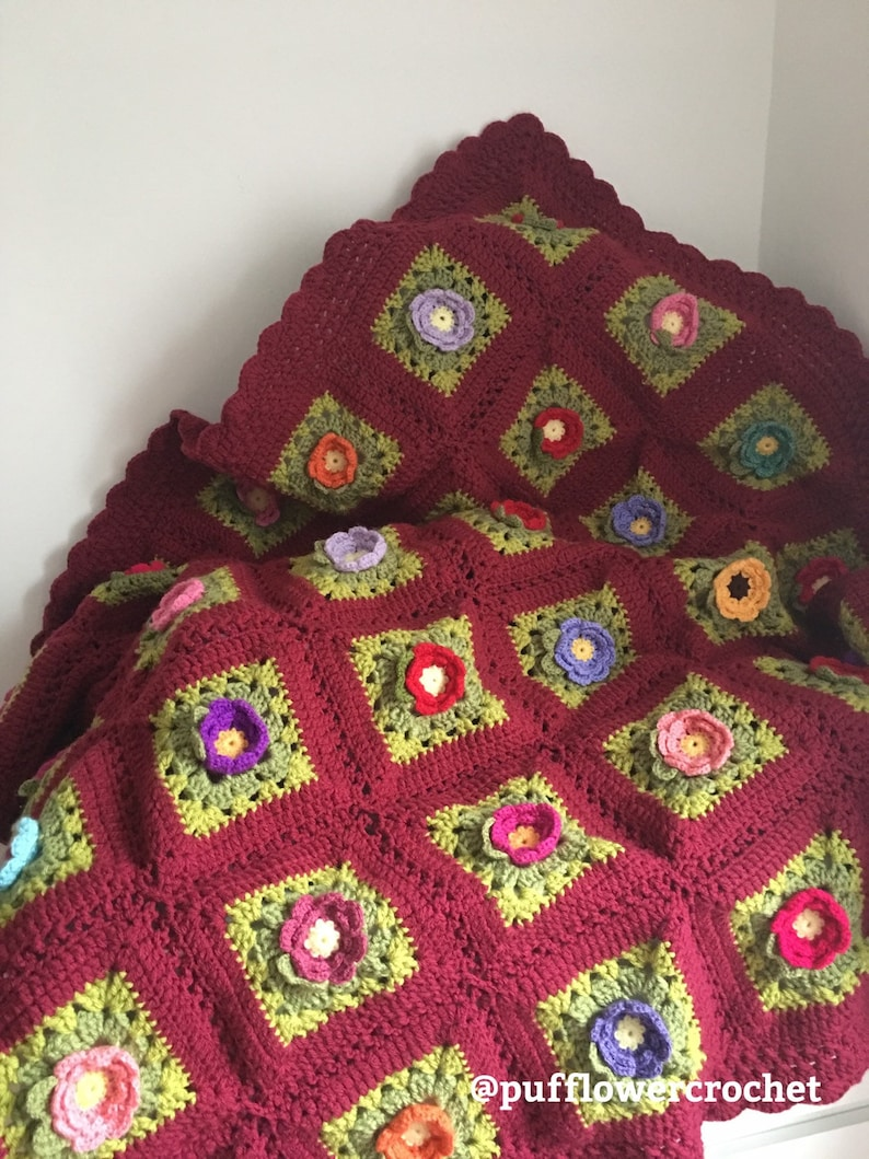 Weighted Afghan Blanket Throw Granny Square Blanket The Very Etsy