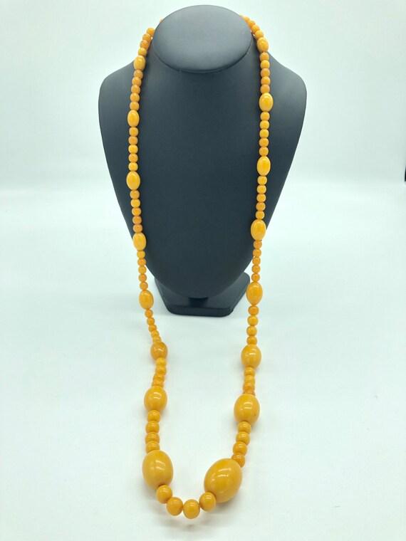 orange Bakelite necklace