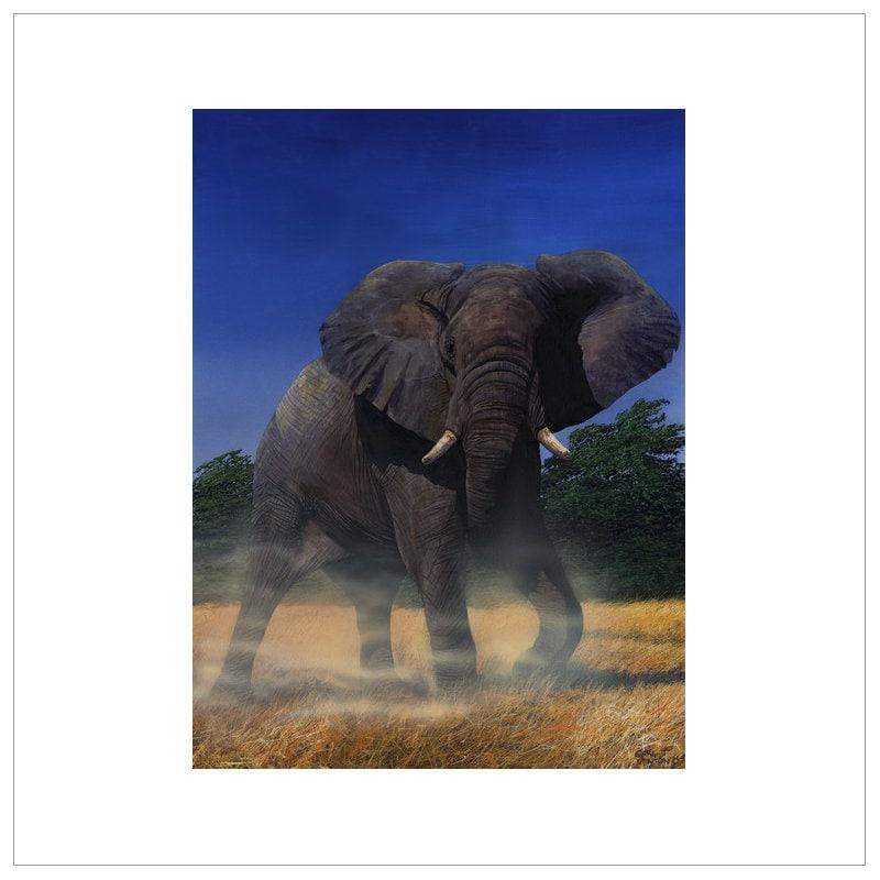 Elephant artwork elephants for elephant lovers print | Etsy - photo#40