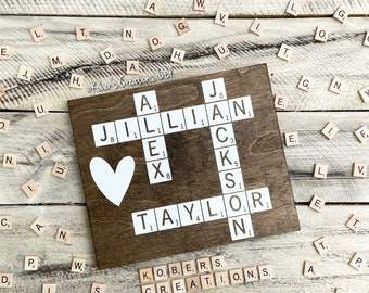Family Crossword Etsy