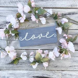 Small Love Sign Rustic Love Sign Custom Love Sign Stocking Stuffer Gallery Wall Set Custom Home Sign Small Home Sign Rustic Home Sign
