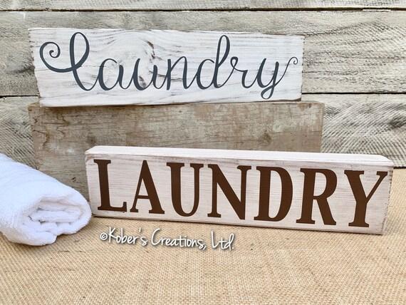 Laundry Shelf Sign Laundry Sign Laundry Room Decor Laundry Etsy