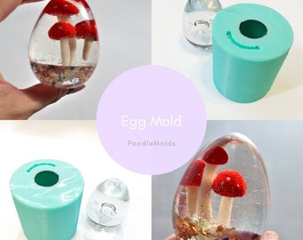"""Egg mold 2.25"""" silicone mold for resin/ epoxy / crafts / jewelry / resinbyjs / joyceartwork / molde / mould"""