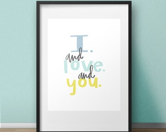 I and Love and You - 8x10 Art Print - The Avett Brothers - I and Love and You Lyrics