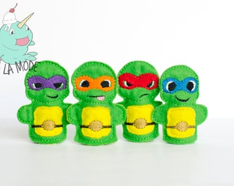 Turtle Finger Puppets
