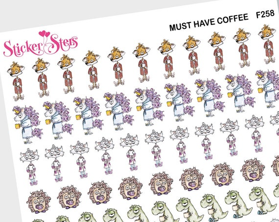 Must Have Coffee all the Friends | F258 Planner Stickers