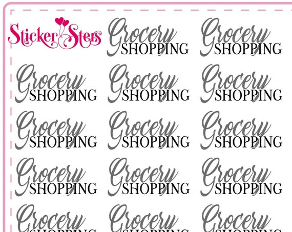 Grocery Shopping Small Sheet Planner Stickers Set Cute and Functional made for all Planners