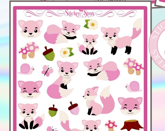 Little Fox UK0003 4page super cute for all planners, Cute and Functional