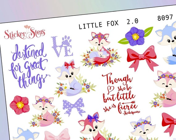Little Fox 2.0 Planner Stickers Mini Kit | 8097
