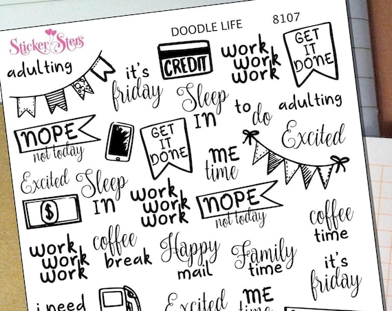 Doodle Life Planner Stickers Mini Kit | 8107