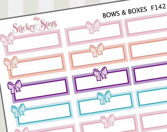Bows and Boxes Pastel | F142 Planner Stickers