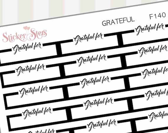 Grateful For...  | F140 Planner Stickers