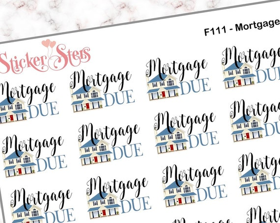 Mortgage Due | F111 Planner Stickers