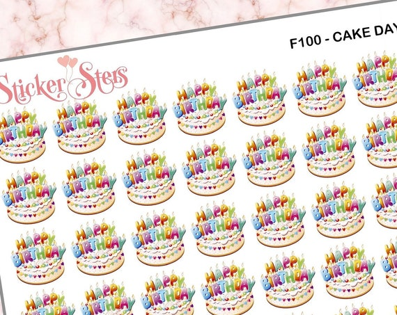 Cake  | F100 Planner Stickers