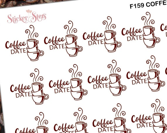 Coffee Date | F159 Planner Stickers