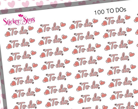 100 To Dos| F196  Planner Stickers