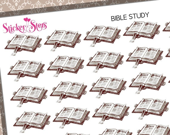 Bible Studies Reminders Faith Sunday Studies | F191  Planner Stickers