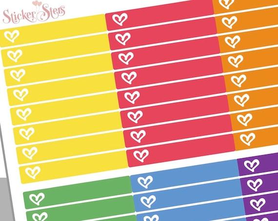Single strip heart blank Headers | F149 Planner Stickers