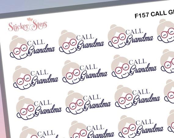 Call Grandma | F157 Planner Stickers