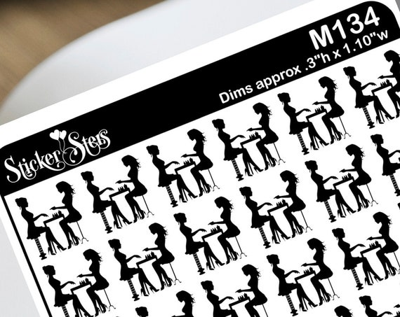 Manicure Nails Foil Option Available | M134 Planner Stickers