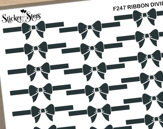 Ribbon Dividers Foil Option Available | F247 Planner Stickers