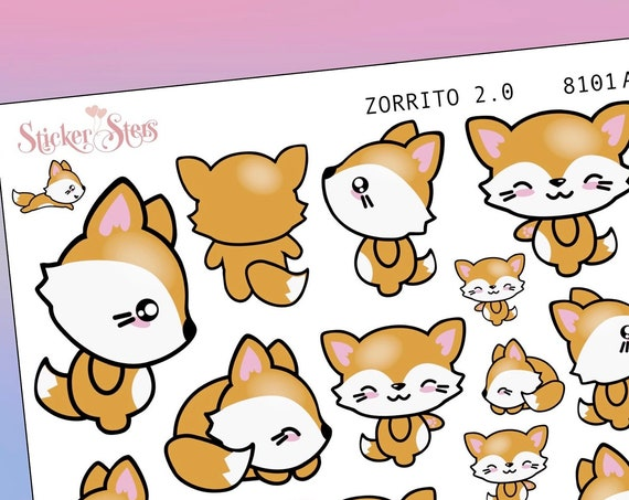 Zorrito 2.0 Planner Stickers Mini Kit | 8101