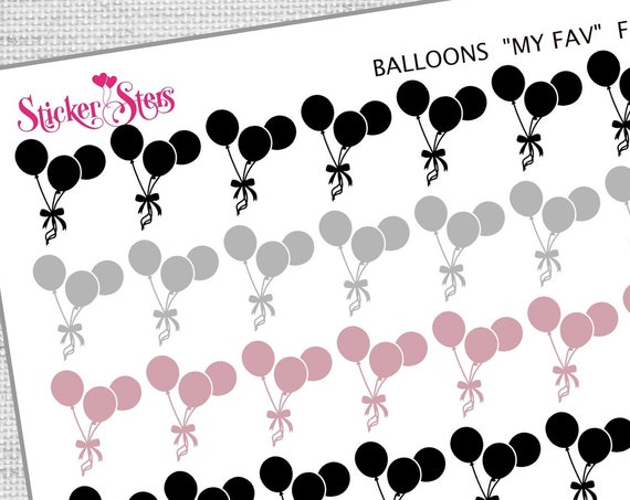 Balloons My Favs| F163 Planner Stickers