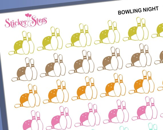 Bowling Play Date Reminders | F261 Planner Stickers