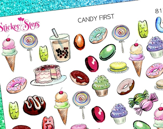 Candy First Sweets Planner Stickers Stickers Mini Kit | 8177
